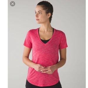 women's lululemon what the sport tee sz 4 C4